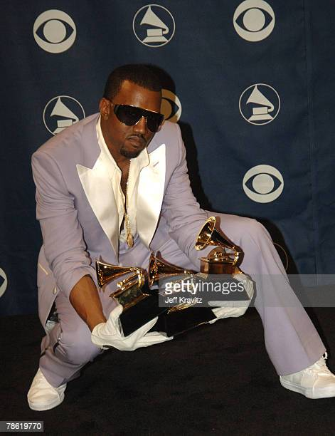 Kanye West winner of Best Rap Solo Performance for Gold Digger Best Rap Song for Diamonds From Sierra Leone and Best Rap Album for Late Registration