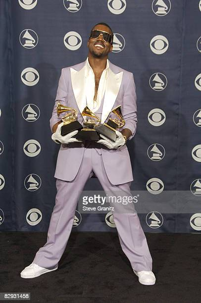 Kanye West winner of Best Rap Solo Performance for 'Gold Digger' Best Rap Song for 'Diamonds From Sierra Leone' and Best Rap Album for 'Late...
