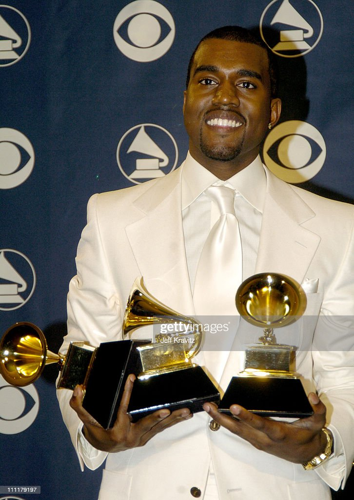 Kanye West, winner of Best R&B Song for 'You Don't Know My Name,' Best Rap Song for 'Jesus Walks' and Best Rap Album for 'The College Dropout'