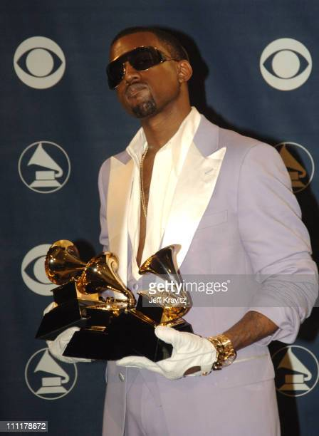 Kanye West winner of three GRAMMY awards including Best Rap Album for Late Registration