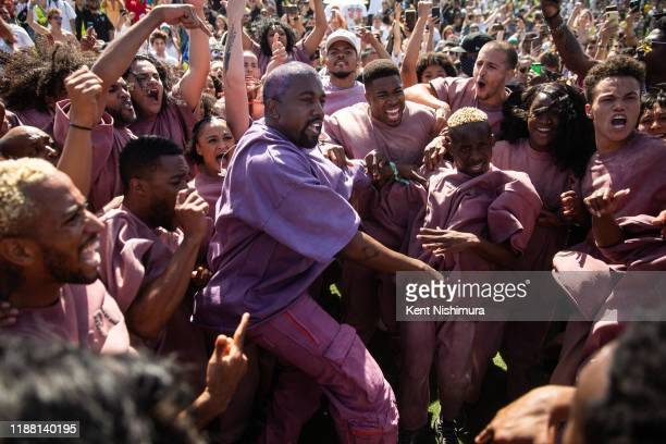 Kanye West's Easter Sunday Service during Weekend 2 of the Coachella Valley Music and Arts Festival at the Empire Polo Club on Sunday April 21 2019...