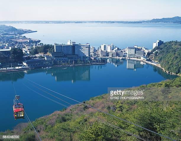 Kanzanji Spa and cable car, Hamamatsu, Shizuoka Prefecture, Japan