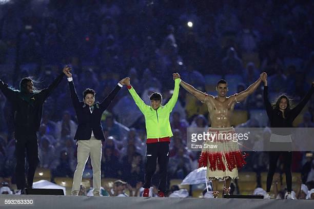 Kaori Icho of Japan, Yusra Mardini of the Refugee Olympic Team, Arthur Nory Mariano of Brazil, Shaunae Miller of Bahamas and Pita Taufatofua of Tongo...