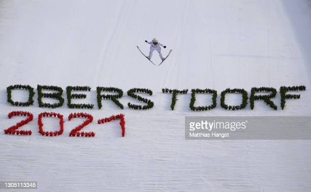 Kaori Iwabuchi of Japan competes during the first round of the Women's Ski Jumping HS137 competition at the FIS Nordic World Ski Championships...