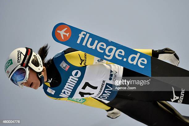 Kaori Iwabuchi of Japan competes during the FIS Ski Jumping World Cup Women's HS100 on December 05, 2014 in Lillehammer, Norway.
