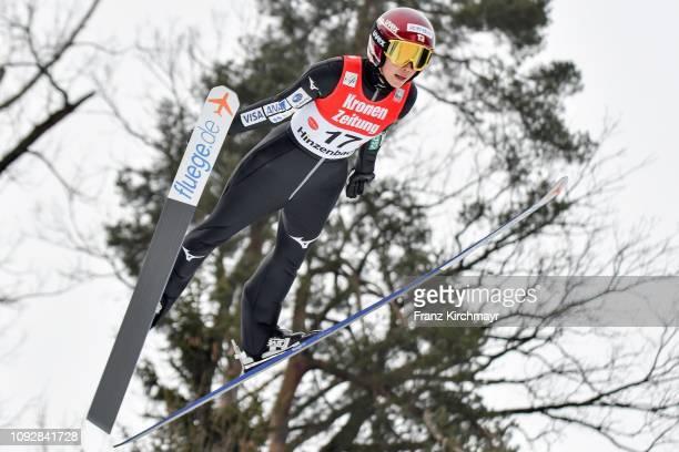Kaori Iwabuchi of Japan during the FIS Ski Jumping Women's Worldcup at Energie AG Skisprungarena on February 2 2019 in Eferding Austria