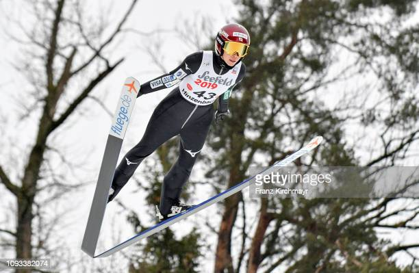 Kaori Iwabuchi of Japan during the FIS Ski Jumping Women's Worldcup at Energie AG Skisprungarena on February 3 2019 in Eferding Austria