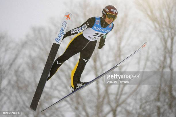 Kaori Iwabuchi of Japan in action during day two of the FIS Ski Jumping World Cup Ladies Zao at Kuraray Zao Schanze on January 20 2019 in Yamagata...