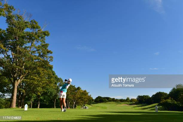 Kaori Ohe of Japan hits her tee shot on the 4th hole during the first round of the 52nd LPGA Championship Konica Minolta Cup at the Cherry Hills Golf...