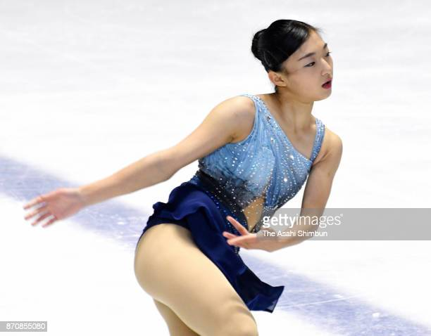 Kaori Sakamoto competes in the Ladies Singles Short Program during day three of the 43rd West Japan Figure Skating Championships at Accion Fukuoka on...