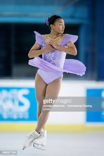 Kaori Sakamoto of Japan competes during the junior ladies free skating on day two of the ISU Junior Grand Prix of Figure Skating on August 26 2016 in...