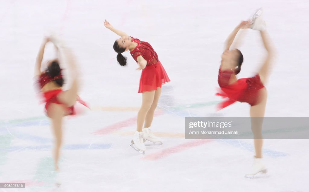 Kaori Sakamoto of Japan competes during the Ladies Single Skating Free Skating on day fourteen of the PyeongChang 2018 Winter Olympic Games at Gangneung Ice Arena on February 23, 2018 in Gangneung, South Korea.