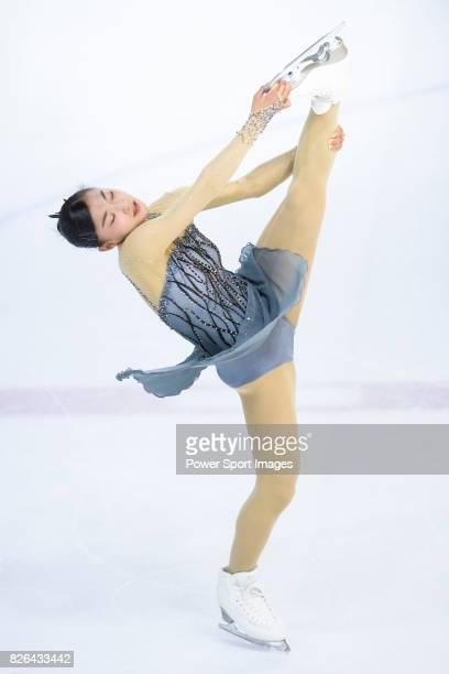 Kaori Sakamoto of Japan competes in Ladies Short Program during the Asian Open Figure Skating Trophy 2017 on August 04 2017 in Hong Kong Hong Kong