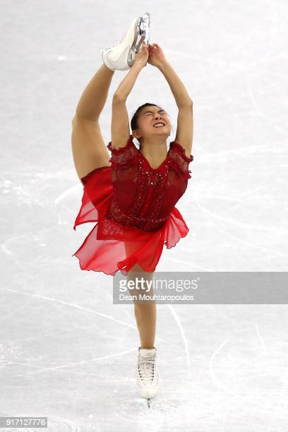 Kaori Sakamoto of Japan competes in the Figure Skating Team Event – Ladies' Single Free Skating on day three of the PyeongChang 2018 Winter Olympic...
