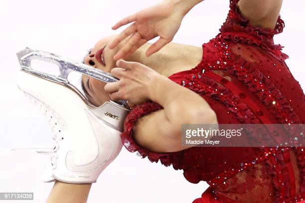 Kaori Sakamoto of Japan competes in the Figure Skating Team Event Ladie's Single Free Skating on day three of the PyeongChang 2018 Winter Olympic...
