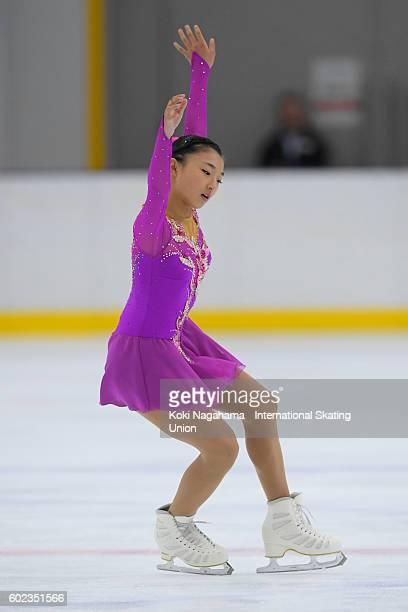 Kaori Sakamoto of Japan competes in the junior women's free program during the ISU Junior Grand Prix of Figure Skating Yokohama on September 11 2016...