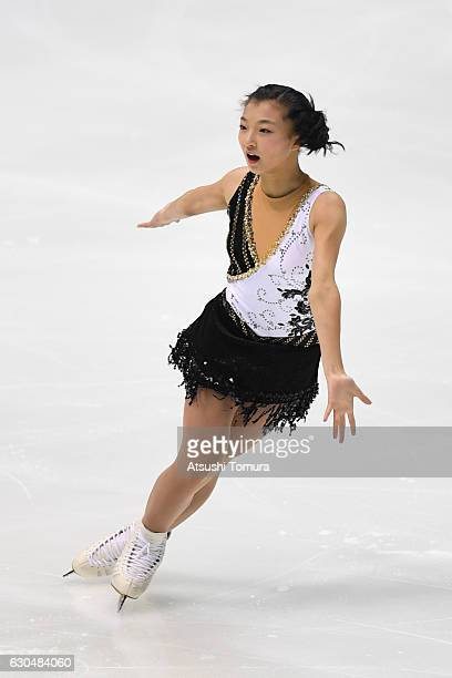 Kaori Sakamoto of Japan competes in the Ladies short program during the Japan Figure Skating Championships 2016 on December 24 2016 in Kadoma Japan