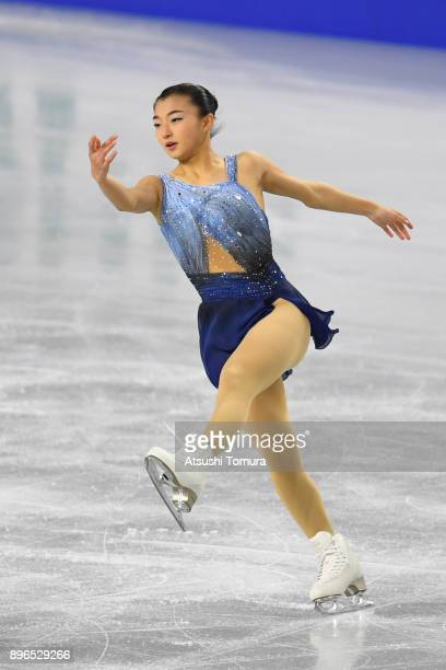Kaori Sakamoto of Japan competes in the ladies short program during day one of the 86th All Japan Figure Skating Championships at the Musashino...