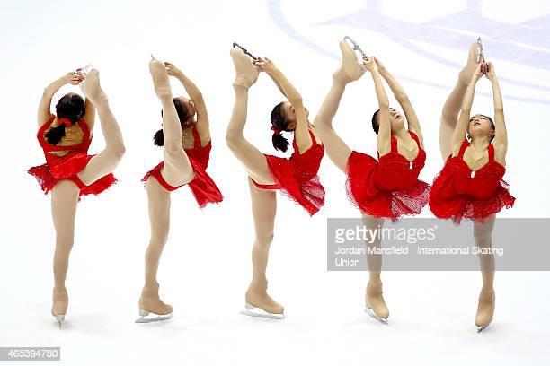 Kaori Sakamoto of Japan performs during the Women's Free Skating on Day 3 of the ISU World Junior Figure Skating Championships at Tondiraba Ice Arena...