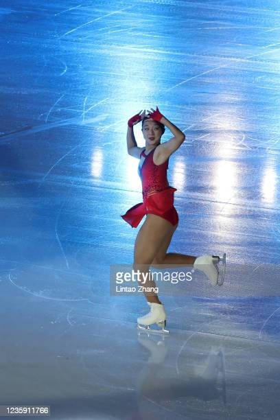 Kaori Sakamoto of Japan performs in the gala exhibition during day 4 of the 2021 Asia Open Figure Skating test event for the Beijing 2022 Winter...