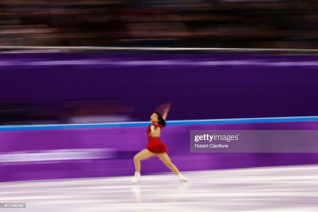 Kaori sakamoto kaori sakamoto kaori sakamoto of japan skates during the ladies single skating free skating section of the team voltagebd Gallery