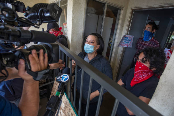 CA: Activists Protest Eviction In Los Angeles Amid COVID-19 Pandemic