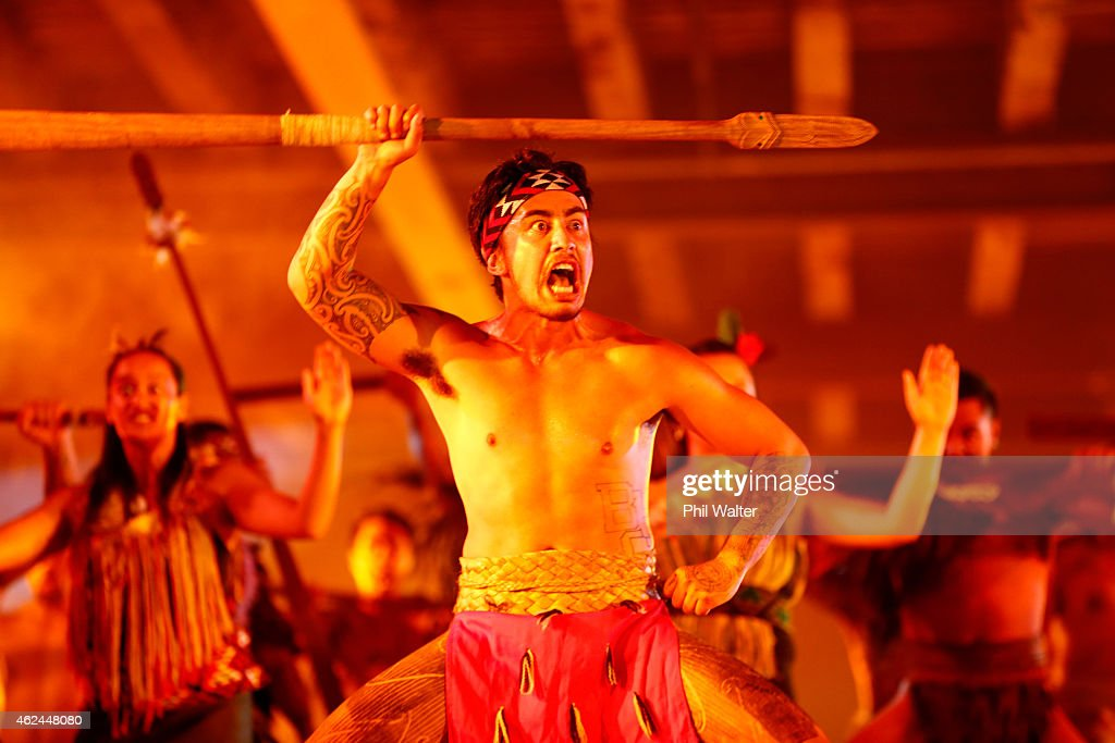 A kapa haka Maori cultural group performs during the 2015 NRL season launch at Shed 10 on January 29, 2015 in Auckland, New Zealand.