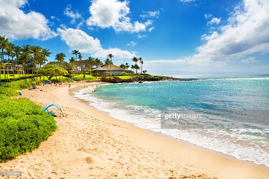 Kapalua Beach And Resort Hotels On Maui Hawaii Stock Photo
