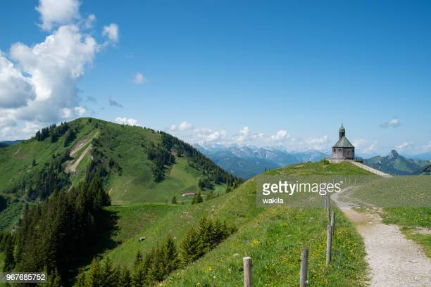 kapelle on wallberg near lake tegernsee - tegernsee stock pictures, royalty-free photos & images