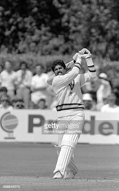 Kapil Dev batting Cricket World Cup 1983 India v Zimbabwe at Tunbridge Wells