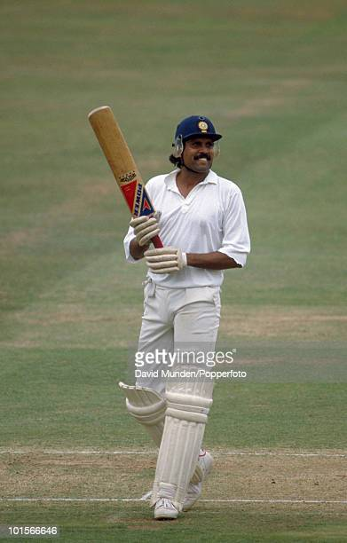 Kapil Dev batting during his innings of 77 not out to save the follow on for India on the fourth day of the 1st Test Match between England and India...