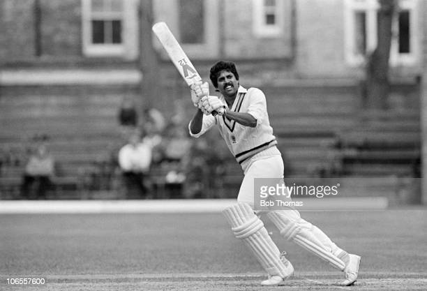 Kapil Dev batting for Nothamptonshire during the Northamptonshire v Nottinghamshire John Player League match played at the County Ground Northampton...
