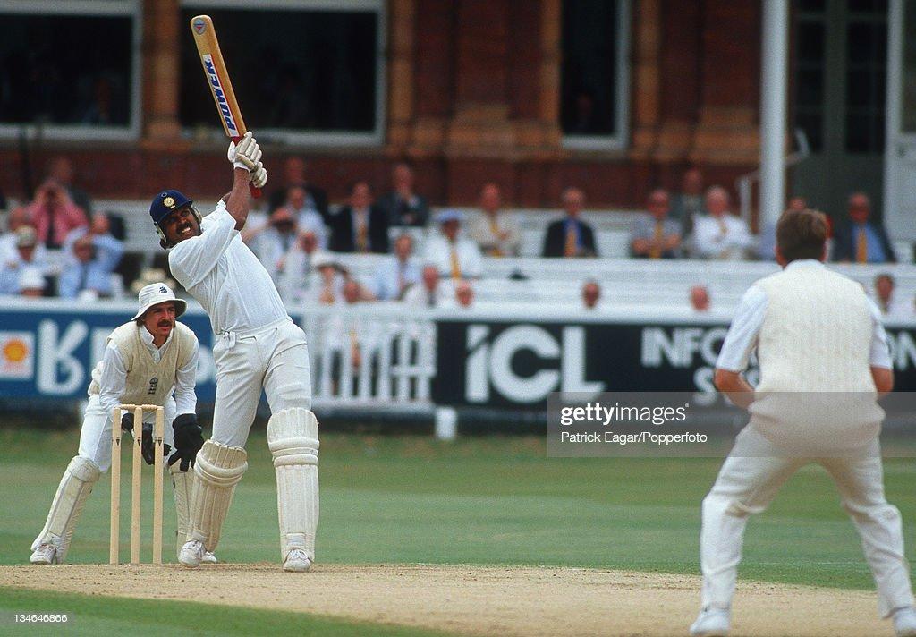 England v India, 1st  Test, Lord's, Jul 90 : News Photo