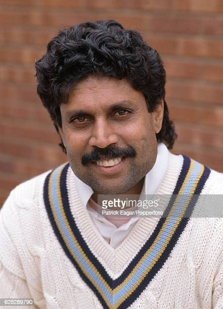 Kapil Dev of India during the 1990 tour of England circa July 1990