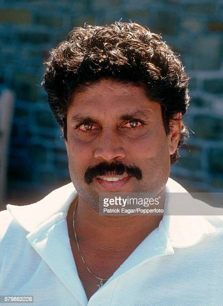 Kapil Dev of India during the Bicentenary match between Marylebone Cricket Club and Rest of the World XI at Lord's Cricket Ground London 19th August...