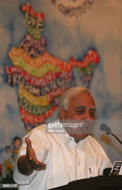 Kapil Sibal at the launch of the book We The Children Of India The Preamble To Our Constitution by Author Leila Seth in New Delhi on April 20 2010