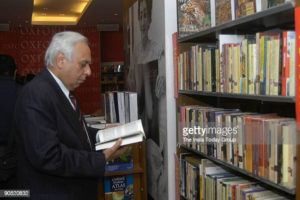 Kapil Sibal Union Cabinet Minister of Science and Technology at the Book Release function of Nandita Puri's ' Nine O Nine' in New Delhi India