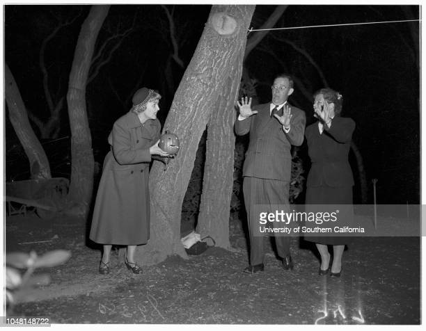 Kappa Kappa Gamma Halloween Party 27 October 1951 Mrs Thomas G DouglasMr and Mrs WM HillMr and Mrs Sidney CollinsMr and Mrs Alexander HaasMrs Nebo...