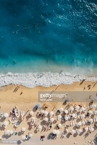 kaputas beach - kas stock pictures, royalty-free photos & images