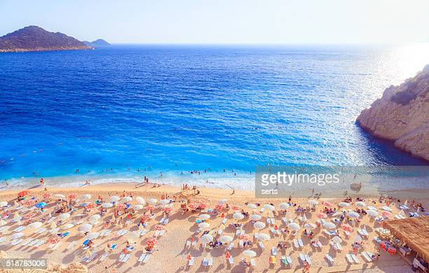 kaputas beach - antalya province stock pictures, royalty-free photos & images