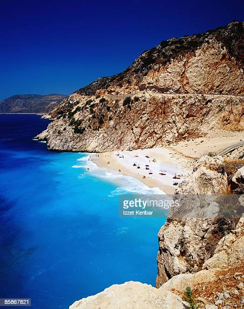 kaputas cove and beach. - kas stock pictures, royalty-free photos & images