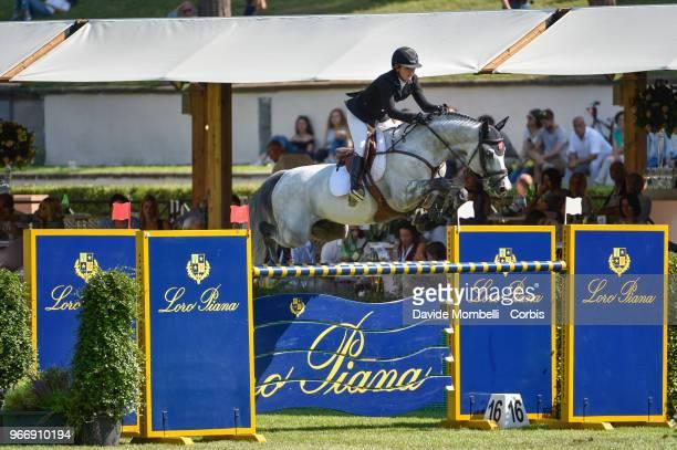 Kara CHAD of Canada riding Dsp Colfosco during Loro Piana Grand Prix Piazza di Sienna on May 26 2018 in Villa Borghese Rome Italy nUnited States of...