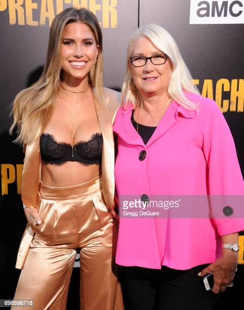 Kara Del Toro and mom arrive at the premiere of AMC's 'Preacher' Season 2 at The Theatre at Ace Hotel on June 20 2017 in Los Angeles California