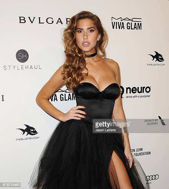 Kara Del Toro attends the 24th annual Elton John AIDS Foundation's Oscar viewing party on February 28, 2016 in West Hollywood, California.