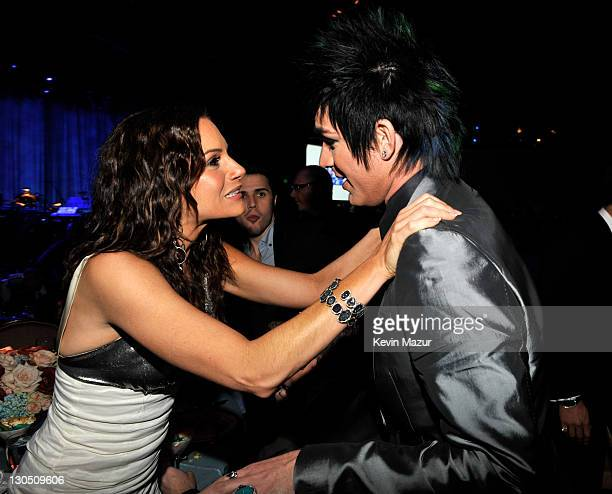 Kara DioGuardi and Adam Lambert at the 52nd Annual GRAMMY Awards Salute To Icons Honoring Doug Morris held at The Beverly Hilton Hotel on January 30...