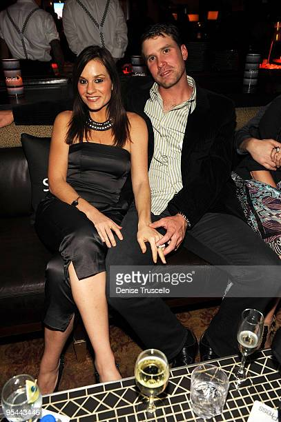 Kara DioGuardi and Mike McCuddy attends the NASCAR SPRINT Cup party at Lavo at the Palazzo on December 4 2009 in Las Vegas Nevada