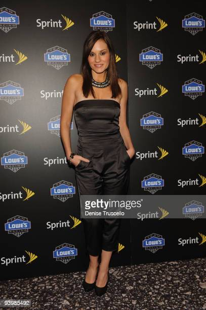 Kara DioGuardi arrives at the NASCAR SPRINT Cup party at Lavo at the Palazzo on December 4, 2009 in Las Vegas, Nevada.