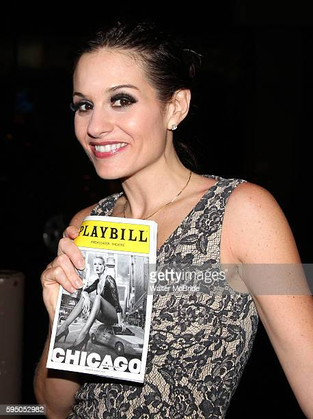 Kara DioGuardi at the Stage Door after making her Broadway Debut as Roxie Hart in 'CHICAGO' on Broadway at the Ambassador Theatre in New York City.