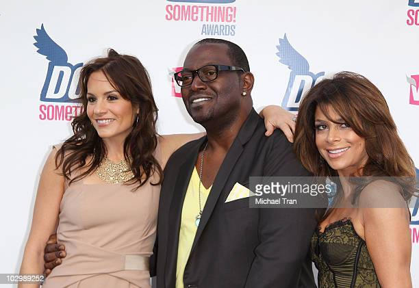 Kara DioGuardi Randy Jackson and Paula Abdul arrive to the 2010 VH1 'Do Something' Awards held at the Hollywood Palladium on July 19 2010 in...