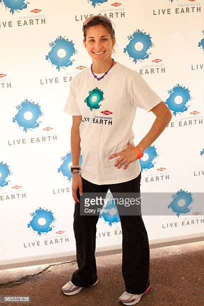 Kara Goucher at the Dow Live Earth Run for Water at Lake Nokomis on April 18 2010 in Minneapolis Minnesota